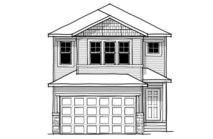 New home in EVO 2 in Cornerbrook, 1,819 SQFT, 3 Bedroom, 2.5 Bath, Starting at 430,000 - Cardel Homes Calgary