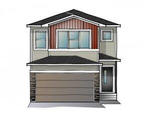 EVO 2 - Urban Craftsman A1 Elevation - 1,819 sqft, 3 Bedroom, 2.5 Bathroom - Cardel Homes Calgary