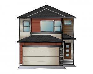 EVO 2 - Urban Prairie F2 Elevation - 1,819 sqft, 3 Bedroom, 2.5 Bathroom - Cardel Homes Calgary
