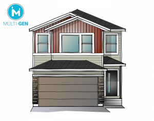 EVO 1 - Urban Craftsman A1 Elevation - 2,014 sqft, 3 Bedroom, 2.5 Bathroom - Cardel Homes Calgary
