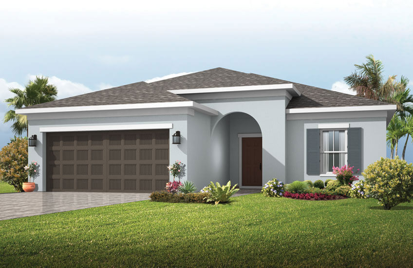 New Tampa Single Family Home Quick Possession Brighton in Sandhill Ridge, located at 14122 Carissa Meadows Court, Riverview FL 33569 Built By Cardel Homes Tampa