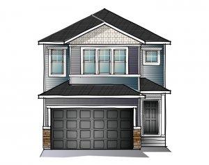 EVO 2 - CRAFTSMAN C1 Elevation - 1,819 sqft, 3 Bedroom, 2.5 Bathroom - Cardel Homes Calgary