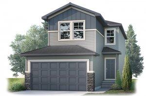 EVO1 Elevation - 2,014 sqft, 3 Bedroom, 2.5 Bathroom - Cardel Homes Calgary