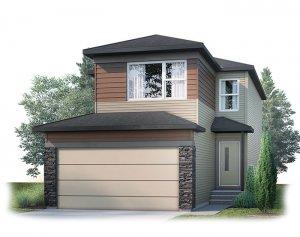 EVO1-F1 Elevation - 2,014 sqft, 3 Bedroom, 2.5 Bathroom - Cardel Homes Calgary