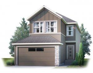 EVO1-F2 Elevation - 2,014 sqft, 3 Bedroom, 2.5 Bathroom - Cardel Homes Calgary