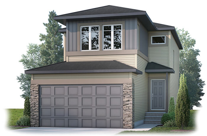 EVO2 Elevation - 1,819 sqft, 3 Bedroom, 2.5 Bathroom - Cardel Homes Calgary