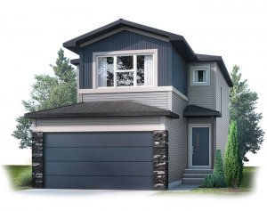 EVO2-F1 Elevation - 1,819 sqft, 3 Bedroom, 2.5 Bathroom - Cardel Homes Calgary