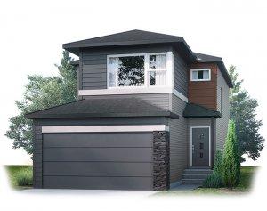 EVO2-F2 Elevation - 1,819 sqft, 3 Bedroom, 2.5 Bathroom - Cardel Homes Calgary