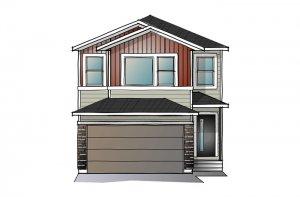 SAV-MG-EVO1-A1 Elevation - 2,014 sqft, 3 Bedroom, 2.5 Bathroom - Cardel Homes Calgary