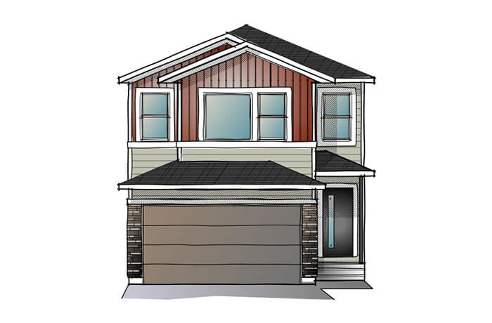 New home in EVO 1 in Savanna, 2,014 SQFT, 3 Bedroom, 2.5 Bath, Starting at 480,000 - Cardel Homes Calgary
