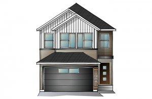 SAV-MG-EVO1-A3 Elevation - 2,014 sqft, 3 Bedroom, 2.5 Bathroom - Cardel Homes Calgary