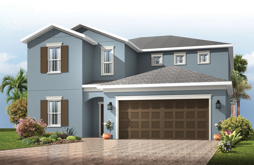New Tampa Single Family Home Quick Possession Winford in Sandhill Ridge, located at 14111 Carissa Meadows Court, Riverview FL 33569 Built By Cardel Homes Tampa