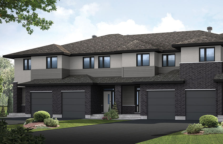 New Ottawa Towns Home Quick Possession Yarro 1 in Blackstone in Kanata South, located at 27 Hackney Private Built By Cardel Homes Ottawa
