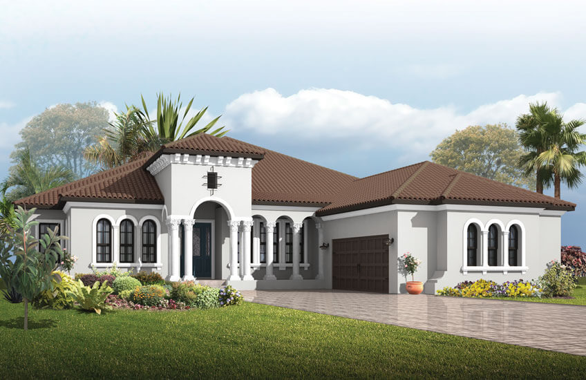 New Tampa Single Family Home Quick Possession Dolcetto 4 in Lakewood Ranch, located at 16624 Berwick Terrace, Lakewood Ranch, FL, 34202 Built By Cardel Homes