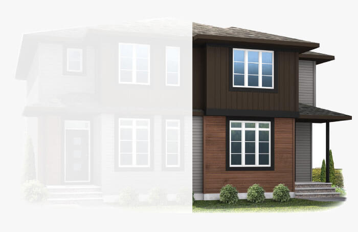 New Calgary Paired Home Quick Possession Soho 4 in Savanna, located at 9036 52 Street, NE Built By Cardel Homes Calgary