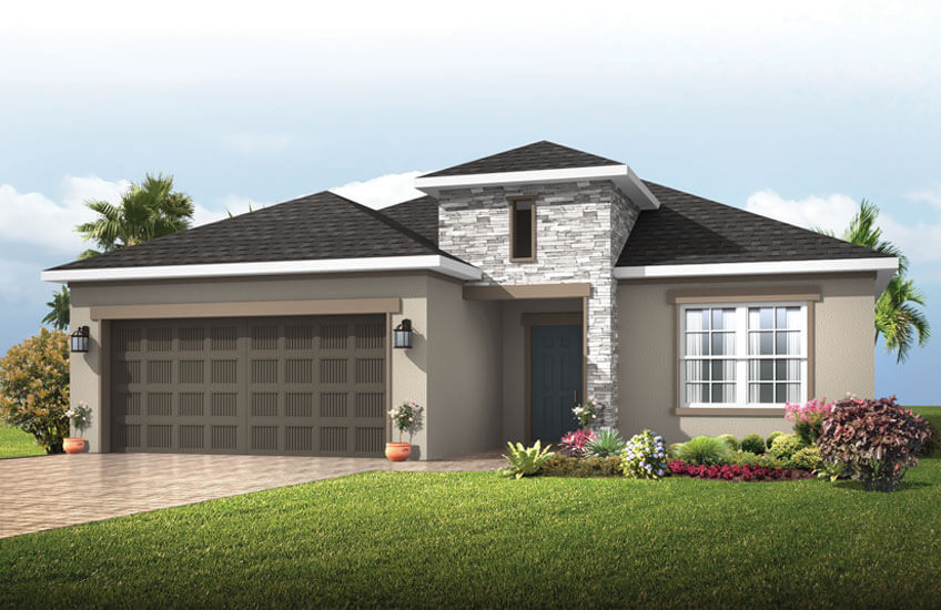 New Tampa Single Family Home Quick Possession Southampton in Sandhill Ridge, located at 11414 Tanner Ridge Place, Riverview FL 33569 Built By Cardel Homes
