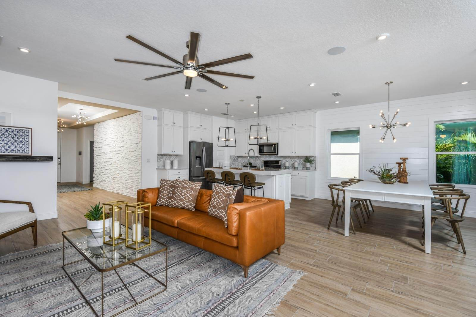 New Tampa  Model Home Brighton 2 in Waterset, located at 5412 Silver Sun Dr Apollo Beach, FL Built By Cardel Homes Tampa