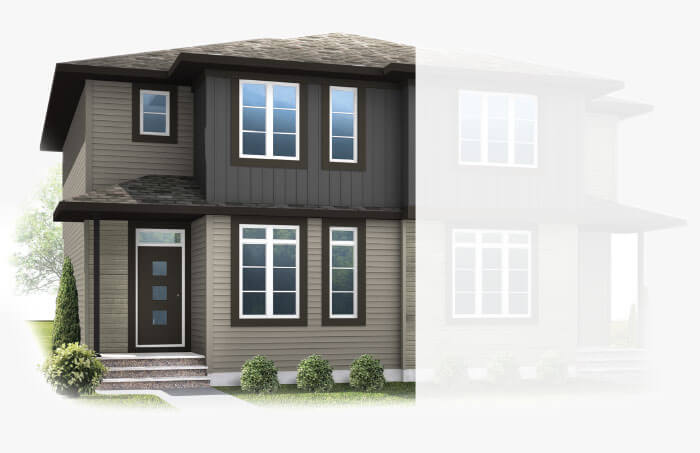 New Calgary Single Family Home Quick Possession Soho 4 in Savanna, located at 9060 52 Street NE Built By Cardel Homes Calgary