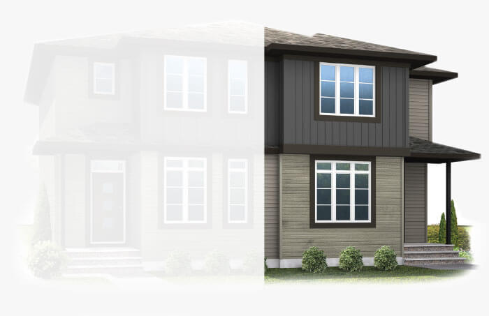 New Calgary Single Family Home Quick Possession Soho 4X in Savanna, located at 9064 52 Street NE Built By Cardel Homes Calgary