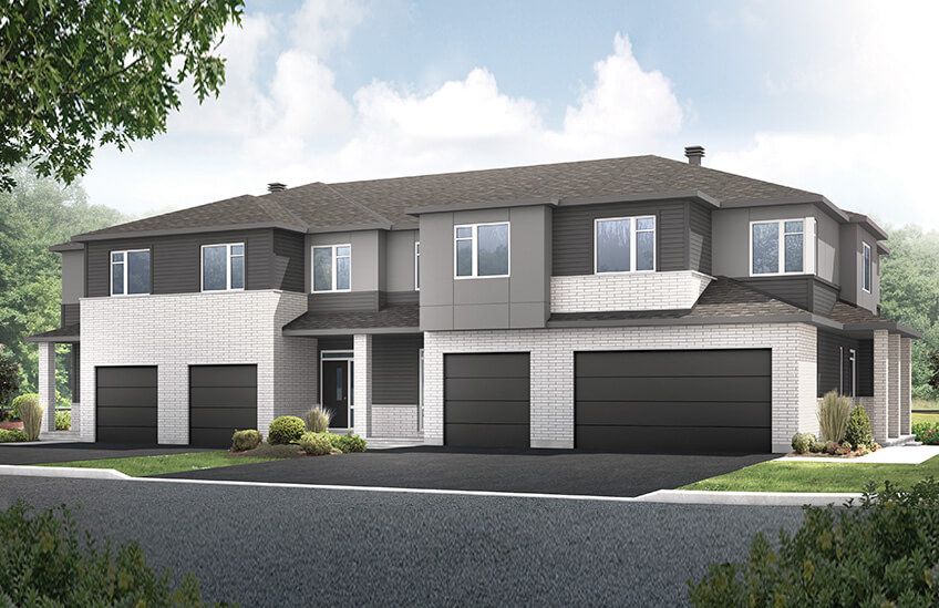 New Ottawa Towns Home Quick Possession Alder in EdenWylde, located at 130 Jardiniere Street, Stittsville Built By Cardel Homes