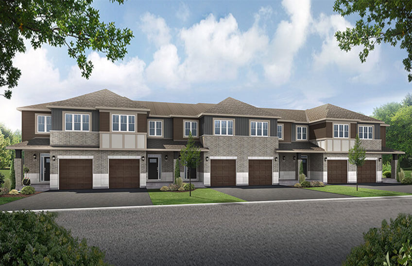 New Ottawa Towns Home Quick Possession Teak in Millers Crossing in Carleton Place, located at 73 Stokes Drive, Carleton Place Built By Cardel Homes Ottawa