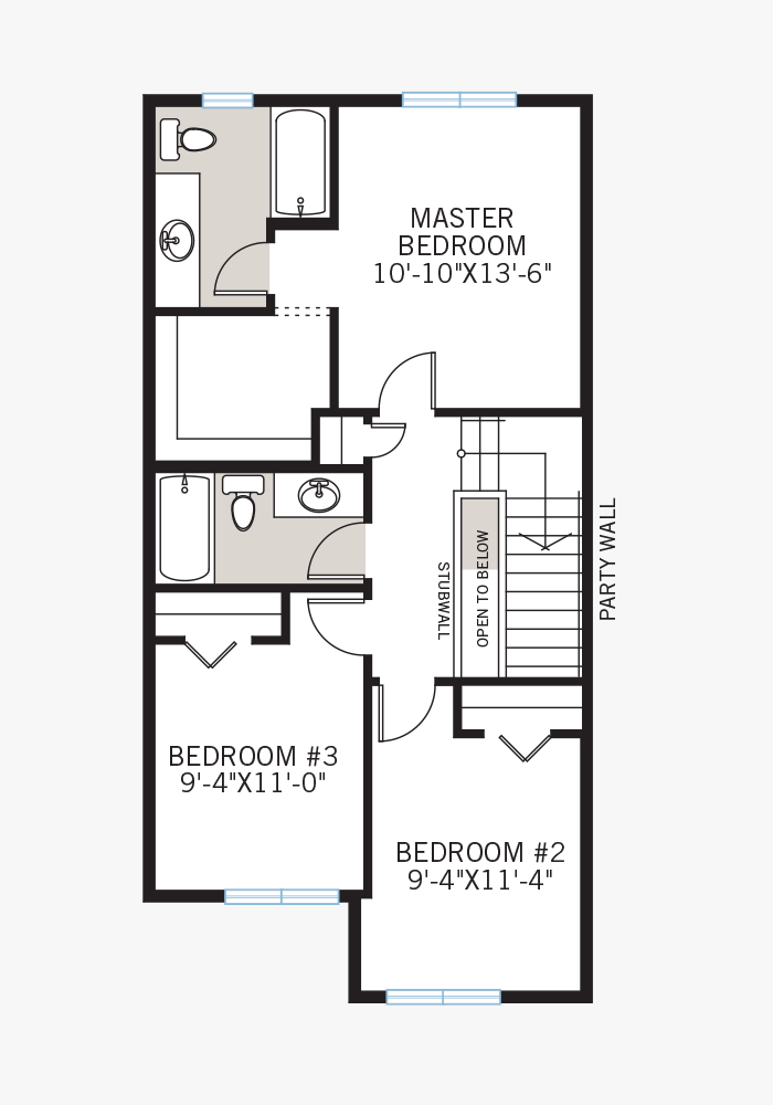 The Indigo 1 home upper floor quick possession in Walden, located at 9 WALCREST GATE SE Calgary Built By Cardel Homes