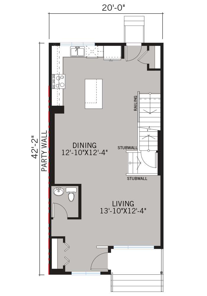 The Indigo 2 home main floor quick possession in Walden, located at 29 WALCREST GATE SE  Calgary Built By Cardel Homes