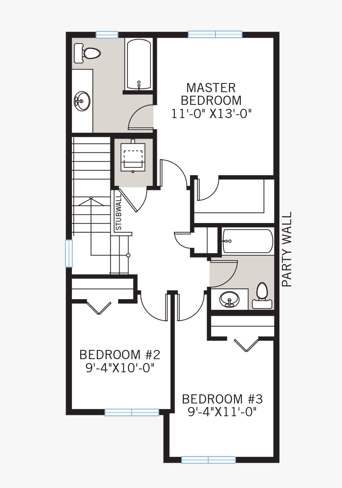 The Indigo 2 home upper floor quick possession in Walden, located at  41 WALCREST GATE SE Calgary Built By Cardel Homes
