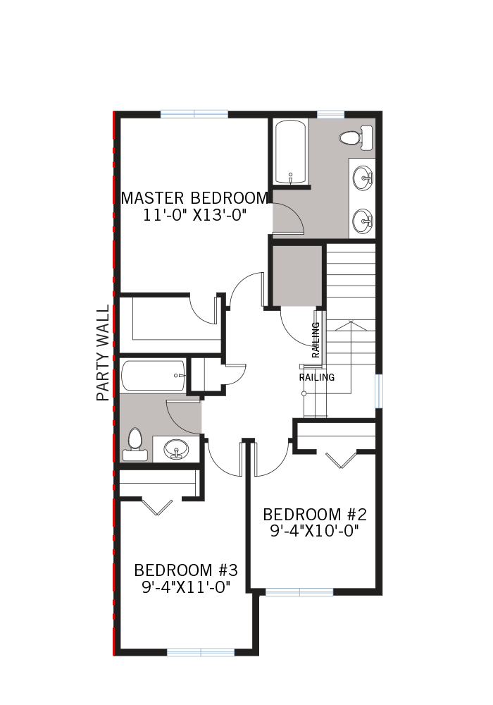 The Indigo 2 home upper floor quick possession in Walden, located at 29 WALCREST GATE SE  Calgary Built By Cardel Homes