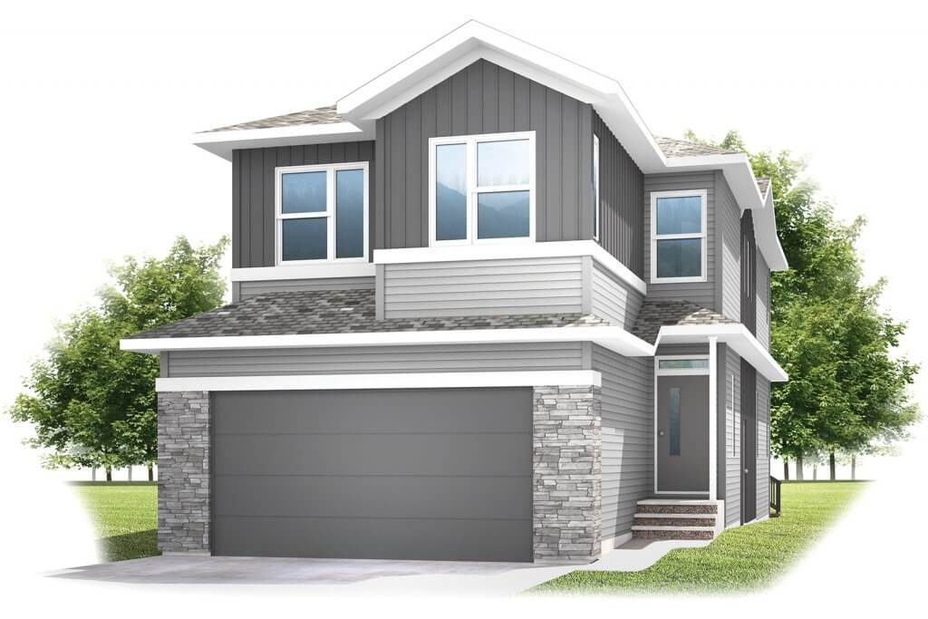 ROHAN1-A1--SAV Elevation - 2,202 sqft, 4 Bedroom, 2.5 Bathroom - Cardel Homes Calgary