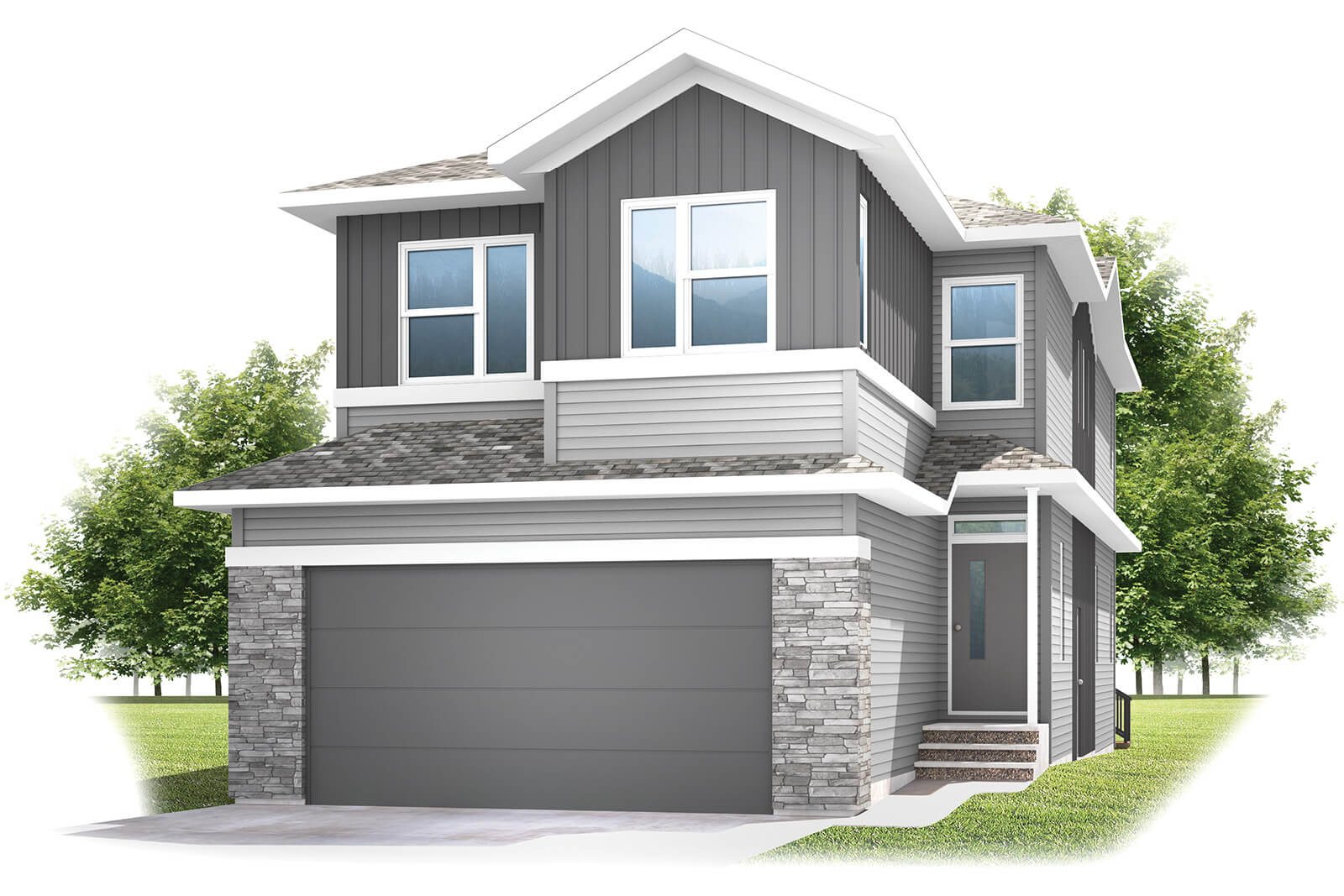 New Calgary Single Family Home Rohan 1 in Shawnee Park, located at 6 Savanna Gardens NE Built By Cardel Homes Calgary