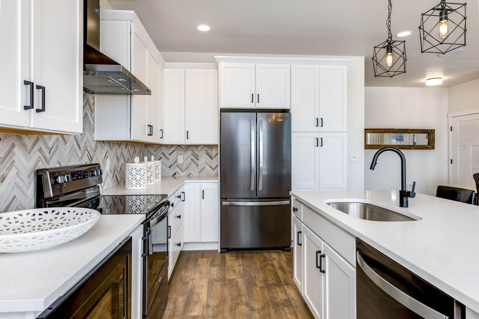 New Denver Single Family Home Quick Possession Juniper in Lincoln Creek, located at 6829 Dewey Drive, Parker, CO Built By Cardel Homes Denver