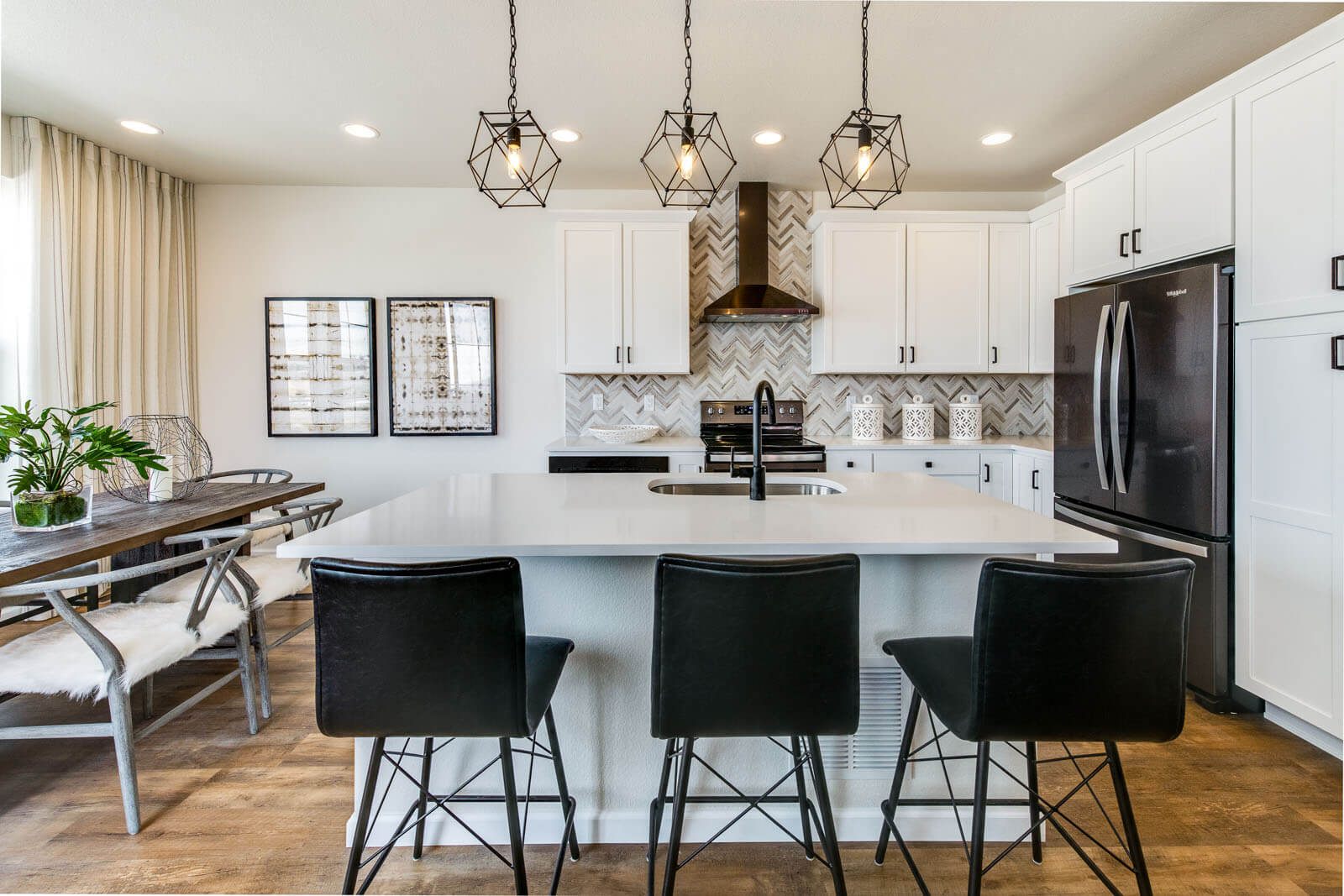 New Denver  Model Home Juniper in Lincoln Creek, located at 6829 Dewey Drive, Parker, CO Built By Cardel Homes Denver