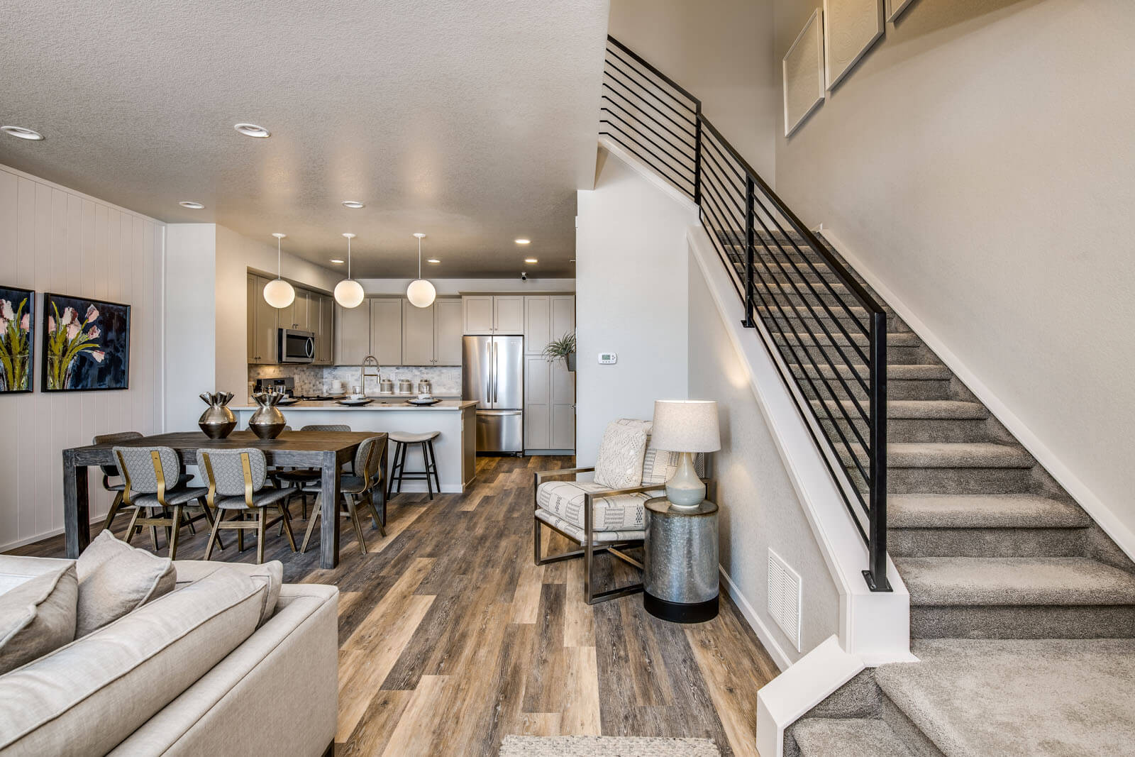 New Denver  Model Home Sage in Lincoln Creek, located at 6835 Dewey Drive, Parker, CO Built By Cardel Homes Denver