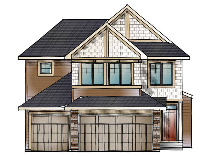 New home in ADDISON in Shawnee Park, 2,785 SQFT, 3 Bedroom, 2.5 Bath, Starting at 805,000 - Cardel Homes Calgary