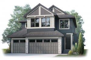 ADDISON-S1 Elevation - 2,785 sqft, 3 Bedroom, 2.5 Bathroom - Cardel Homes Calgary