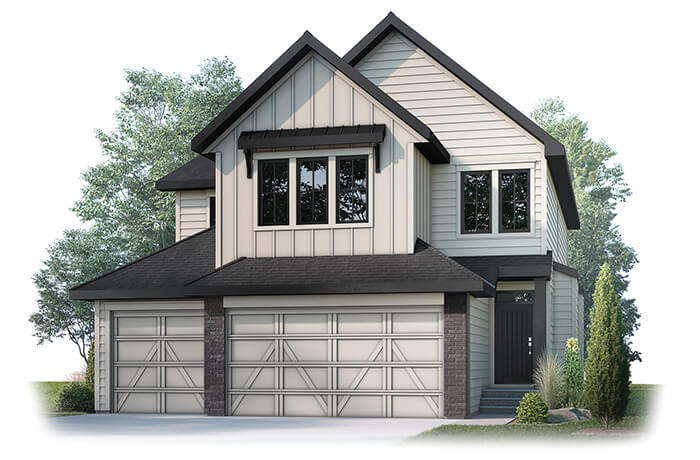 ADDISONS4-1202 Elevation - 2,785 sqft, 3 Bedroom, 2.5 Bathroom - Cardel Homes Calgary