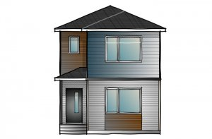 MENSA2-ModernPrairie-F2 Elevation - 1,871 sqft, 4 Bedroom, 3 Bathroom - Cardel Homes Calgary
