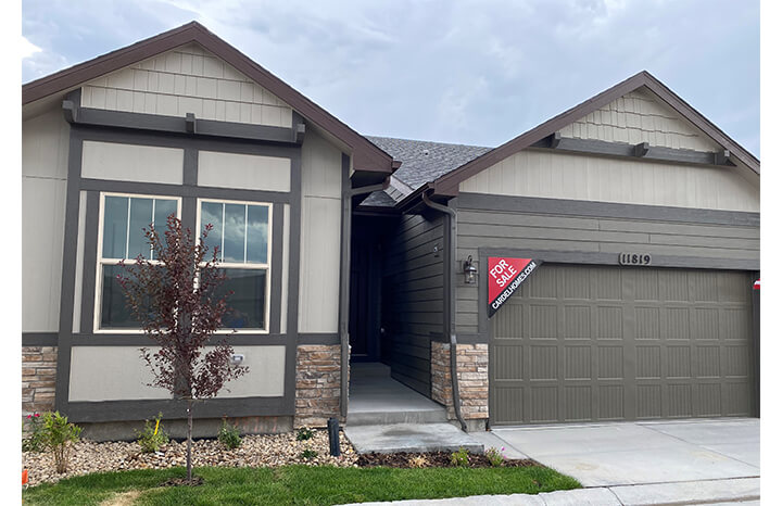 New Denver Single Family Home Quick Possession <b></b>Ponderosa in Lincoln Creek, located at 11819 Barrentine Loop, Parker Built By Cardel Homes