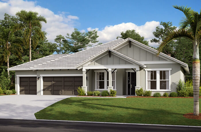 BARRETT2 - WO - Craftsman Elevation - 2,507 - 3,120 sqft, 3-5 Bedroom, 2-4 Bathroom - Cardel Homes Tampa
