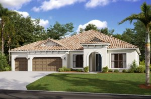 BARRETT2 - WO - Mediterranean Elevation - 2,507 - 3,120 sqft, 3-5 Bedroom, 2-4 Bathroom - Cardel Homes Tampa