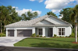 BARRETT2 - WO - Traditional Elevation - 2,507 - 3,120 sqft, 3-5 Bedroom, 2-4 Bathroom - Cardel Homes Tampa