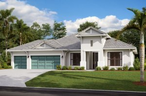 BARRETT2 - WO - West Indies Elevation - 2,507 - 3,120 sqft, 3-5 Bedroom, 2-4 Bathroom - Cardel Homes Tampa