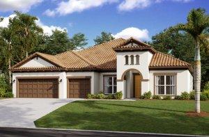 HENLEY2 - WO - Mediterranean Elevation - 3,000 - 3,939 sqft, 4-5 Bedroom, 3-4 Bathroom - Cardel Homes Tampa
