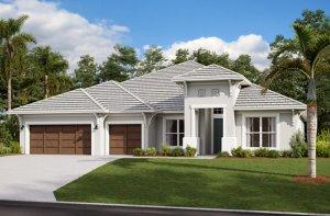 HENLEY2 - WO - West Indies Elevation - 3,000 - 3,939 sqft, 4-5 Bedroom, 3-4 Bathroom - Cardel Homes Tampa