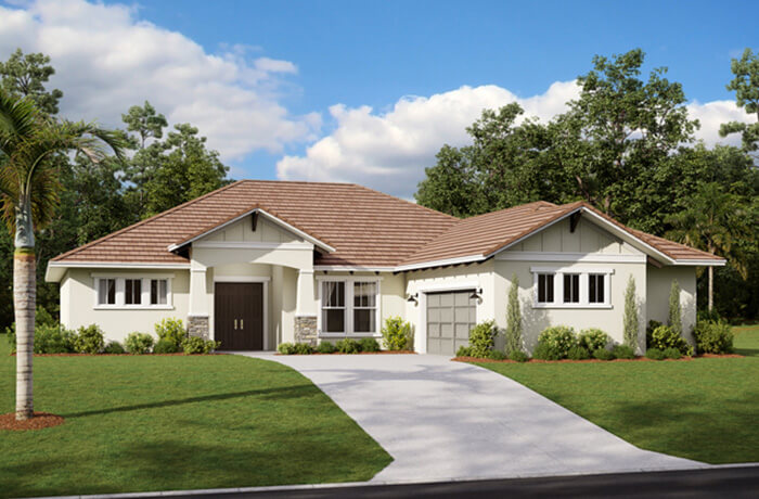 MARTIN 2 - WO - Craftsman Elevation - 2,533 - 2,805 sqft, 3-4 Bedroom, 3 Bathroom - Cardel Homes Tampa