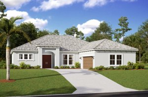 MARTIN 2 - WO - Mediterranean Elevation - 2,533 - 2,805 sqft, 3-4 Bedroom, 3 Bathroom - Cardel Homes Tampa