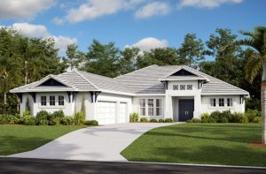 MARTIN 2 - WO - West Indies Elevation - 2,533 - 2,805 sqft, 3-4 Bedroom, 3 Bathroom - Cardel Homes Tampa