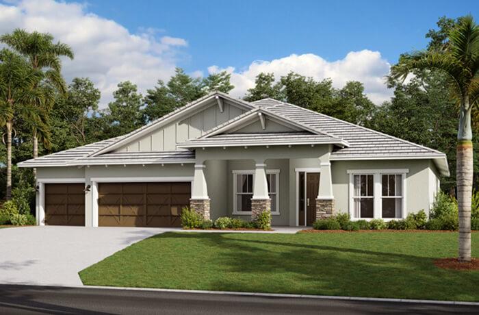 SAVANNAH 2 - WO - Craftsman Elevation - 3,308 sqft, 4 Bedroom, 3 Bathroom - Cardel Homes Tampa