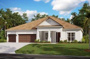 SAVANNAH 2 - WO - Traditional Elevation - 3,308 sqft, 4 Bedroom, 3 Bathroom - Cardel Homes Tampa